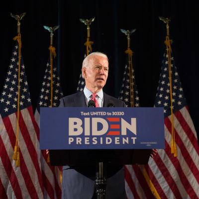 Demokraattipuolueen Joe Biden.