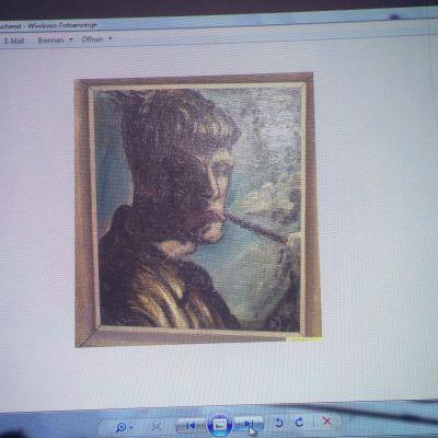 Otto Dix, självporträtt