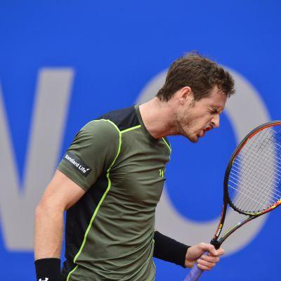 Andy Murray tuuletti voittoa Münchenin ATP-turnauksessa.