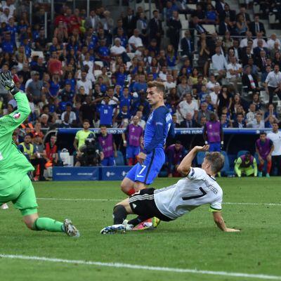 Ranskan ja Saksan upea ottelu