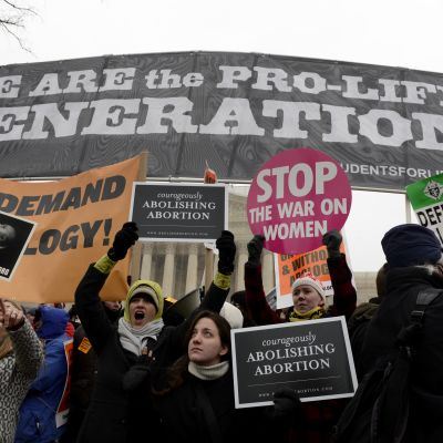 Den så kallade Pro Life lobbyn demonstrerar mot abort