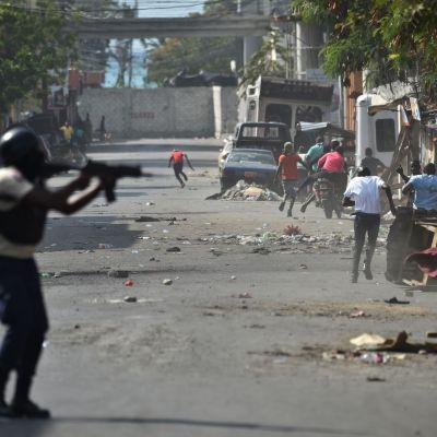 Sammandrabbningar i Port-au-Prince 13.2.2019