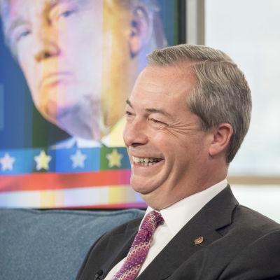 """Nigel Farage deltog i en diskussion om det amerikanska presidentvalet i brittiska """"This Morning"""" 8.11.2016"""