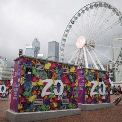 Hong Kong uppmärksammar att det gått 20 år sedan Kina tog över regionen från Storbritannien.