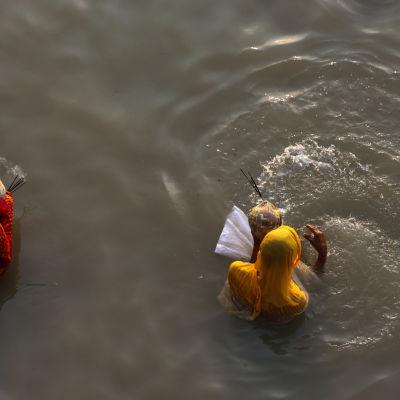 Floden Ganges i Indien