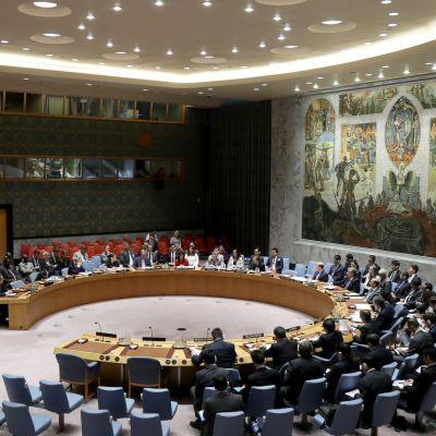 FN:s säkerhetsråd samlad för ett krismöte.