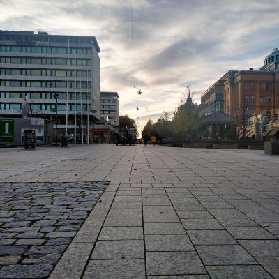 Rewell Center i Vasa sett från gågatan.