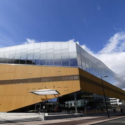Helsingfors centrumbibliotek Ode fotograferad från söder.