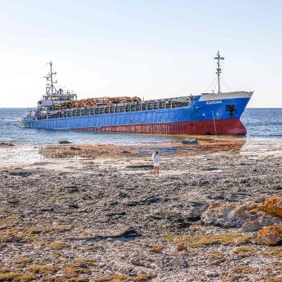 M/S Ramona på grund utanför Gotland.