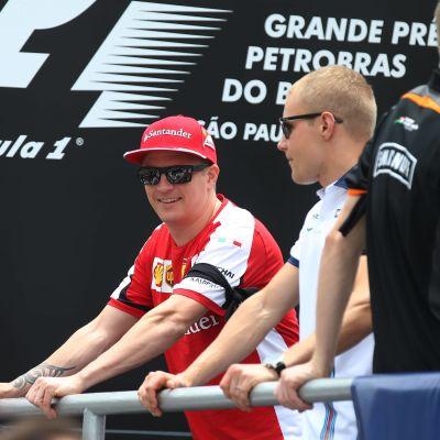 Kimi Räikkönen och Valtteri Bottas, 2015.