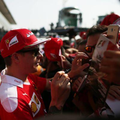 Kimi Räikkönen är populär vid Monza-banan.