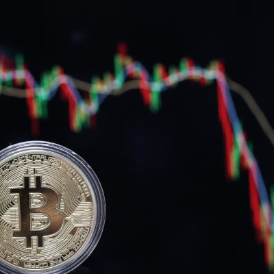 Mynt med Bitcoinmotiv