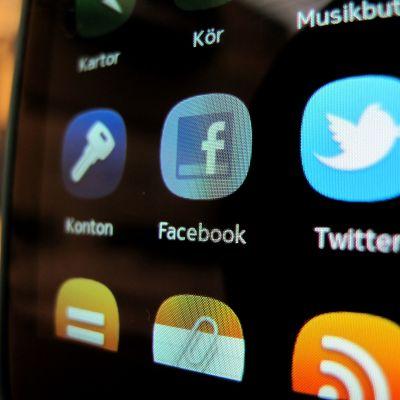 Mobil Facebookapplikation.
