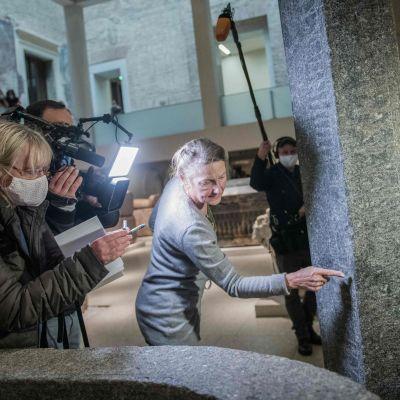 Neues Museumi Berlin utsattes för illdåd.