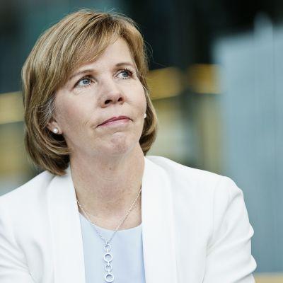SFP:s ordförande Anna-Maja Henriksson i Helsingfors den 4 april 2017.