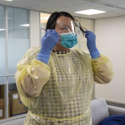 Hengitysmaski ja suojavaate