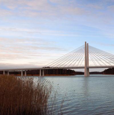 Skiss, nya Rävsundsbron.