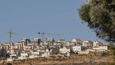Den israeliska bosättningen Psagot i Ramallah på Västbanken 19.11.2019