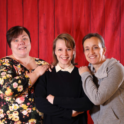 Från vänster Katarina Nikkanen, Petra Sundqvist och Patricia Hirn