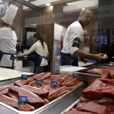 Kött från Brasilien på ProdExpo 2016 i Moskva