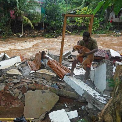 Översvämning i Kerala, Indien 16.10.2021.