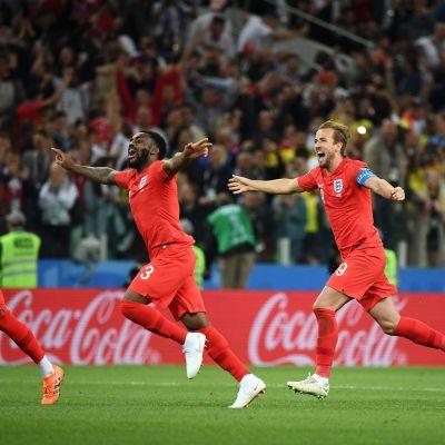 England jublar efter straffsegern över Colombia