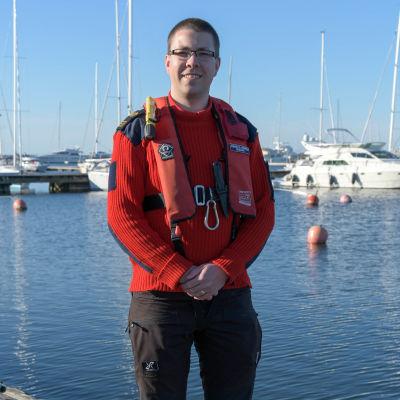Ekenäs sjöreddares ordförande Andreas Hindrén.