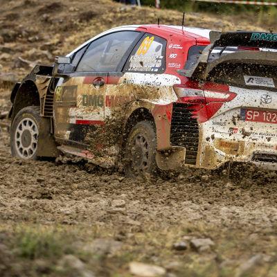 Kalle Rovanperä kör bil i det grekiska rallyt.