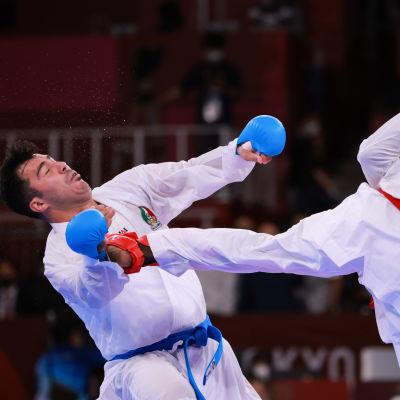 Saudi-Arabian Tareg Hamedi menetti olympiakullan Tokiossa liian kovaan potkuun.