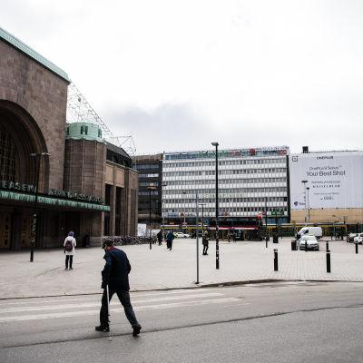 Helsingin keskustassa oli hiljaista 14. huhtikuuta