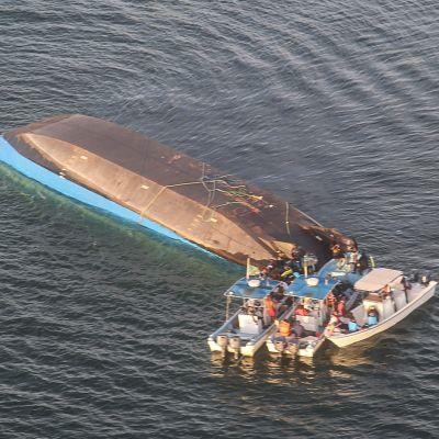 Den kapsejsade färjan MV Nyerere i Victoriasjön på fredagen 21.9.