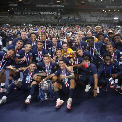 PSG firar titeln i franska cupen.