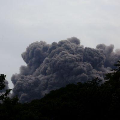 Eldvulkanens utbrott i Guatemala.