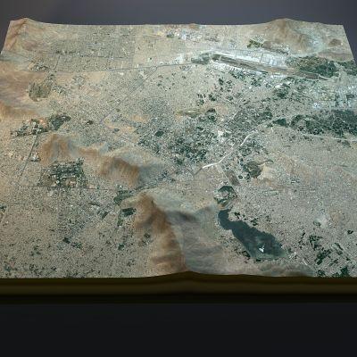 Satellitbild i 3D över Kabul i Afghanistan.