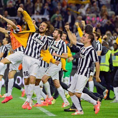 Juventus firar det italienska mästerskapet 2014