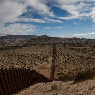 Gränsområdet mellan USA och Mexico.