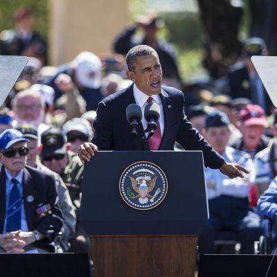 Barack Obama talar under 70-årsdagen av Dagen D.