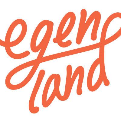 Egenland-programmets logo med orange text på vit bakgrund.