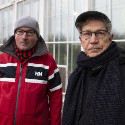 Musta takki Iiro toivonen. Punainen takki Tapio Ertman