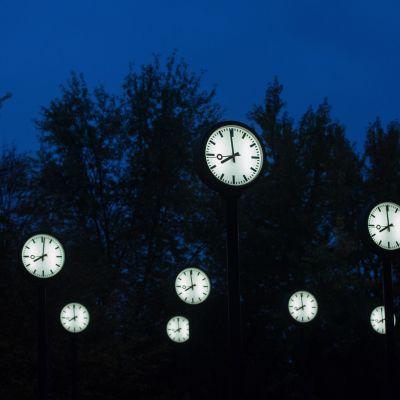 Klaus Rinkes installation 'Zeitfeld' i Duesseldorf