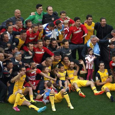 Atletico Madrid firar La Ligamästerskap.