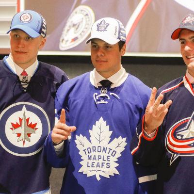 Auston Matthews och Patrik Laine reserverades som etta och tvåa i NHL-draften i somras.