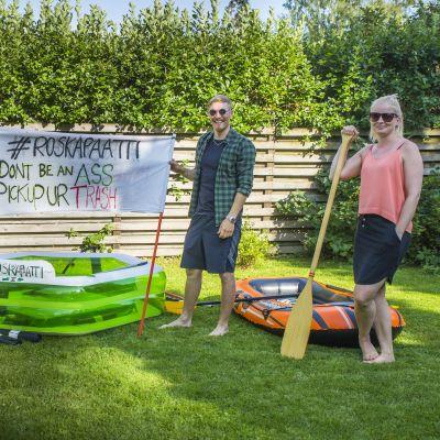 Jenna Kivivirta, Pekka Kääriäinen ja Riina Haapakoski valmistautuvat kaljakelluntaan