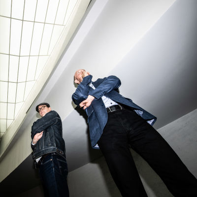 Toni Viljanmaa ja Sampo Terho Helsingin Kiasmassa.