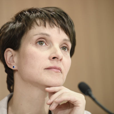 Frauke Petry, ordförande för högerpopulistiska partiet Alternative für Deutchland.