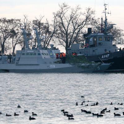 Den ukrainska marinens fartyg i Kertj