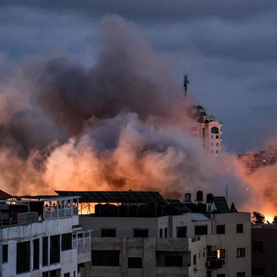 Israel bombar Gaza City 20.5.2021