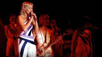 ABBA live på scen 1979.