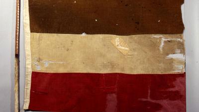 Tyska flaggan på ett afrikanskt spjut, 1892.