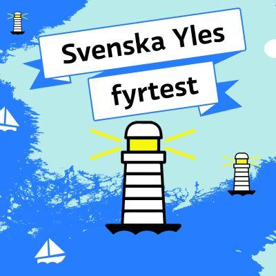 Fyrar ritade i vektorgrafik i Finska viken.